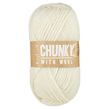 Buy Hayfield Chunky Yarn with Wool, 100g, Cream Online at johnlewis.com