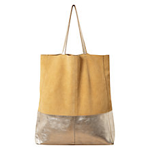 Buy East Contrast Tote Bag, Lemon Online at johnlewis.com