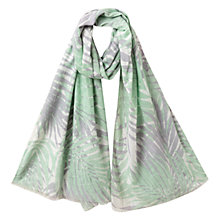Buy East Palm Leaf Print Scarf, Mint Online at johnlewis.com