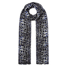 Buy Whistles Snake Print Scarf, Navy Online at johnlewis.com