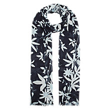 Buy Whistles Botanical Floral Scarf, Blue Online at johnlewis.com
