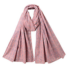 Buy East Cotton Krishna Print Scarf, Flamingo Online at johnlewis.com