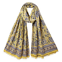 Buy East Anokhi Arya Print Scarf, Lemon Online at johnlewis.com