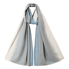 Buy East Soft Ombre Plain Scarf, Blue / Stone Online at johnlewis.com