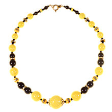 Buy Alice Joseph Vintage 1930s Speckled Bead Diamante Necklace, Lemon Online at johnlewis.com