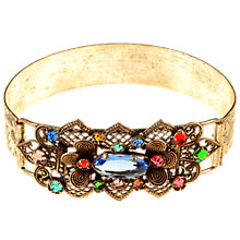 Buy Alice Joseph Vintage 1920s Silver Toned Diamante Filigree Bangle, Blue Online at johnlewis.com