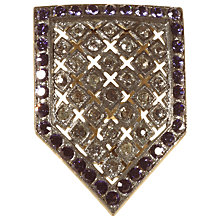 Buy Alice Joseph Vintage 1930's Silver Toned Diamante Art Deco Dress Clip, Purple Online at johnlewis.com