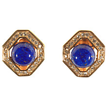 Buy Alice Joseph Vintage 1980s Christian Dior Faux Lapis Earrings, Blue/Gold Online at johnlewis.com