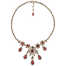 Buy Alice Joseph Vintage Diamante Necklace, Cerise/White Online at johnlewis.com