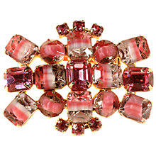 Buy Alice Joseph Vintage 1950s Glass Stone Brooch, Pink/White Online at johnlewis.com