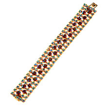 Buy Alice Joseph Vintage 1950s Diamante Bracelet, Red Online at johnlewis.com