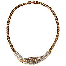 Buy Alice Joseph Vintage Attwood & Sawyer Gold Plated Diamante Necklace, Gold Online at johnlewis.com