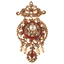 Buy Alice Joseph Vintage 1950s Florenza Gold Plated Freshwater Pearl Brooch, Red Online at johnlewis.com