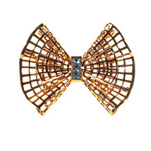Buy Alice Joseph Vintage French Gilt Plated Diamante Bow Brooch, White Online at johnlewis.com