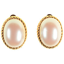 Buy Alice Joseph Vintage Richeliu Gilt Plated Pearl Clip-On Earrings, White Online at johnlewis.com