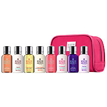 Buy Molton Brown Pink Mini Stowaway Ladies Body Wash and Lotion Set, 8 x 30ml Online at johnlewis.com