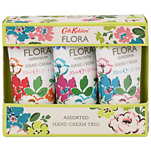 Buy Cath Kidston Assorted Flora Hand Cream Trio, 3 x 30ml Online at johnlewis.com