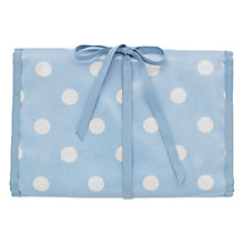 Buy Cath Kidston Blue Spot Cosmetic Roll Case Online at johnlewis.com