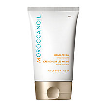 Buy Moroccanoil Hand Cream, Fleur D'Oranger, 75ml Online at johnlewis.com