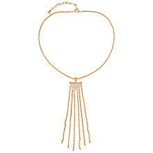 Buy Susan Caplan for John Lewis 1980s Gold Plated Tassel Drop Necklace, Gold Online at johnlewis.com