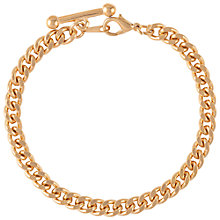 Buy Susan Caplan for John Lewis 1990s Gold Plated Albert Bar Bracelet, Gold Online at johnlewis.com