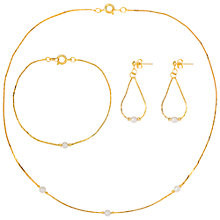 Buy Susan Caplan for John Lewis 1990s Gold Plated Faux Pearl Jewellery Set, Gold Online at johnlewis.com