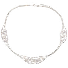 Buy Susan Caplan for John Lewis 1980s Silver Plated Faux Pearl Necklace, Silver Online at johnlewis.com