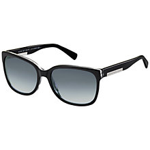 Buy Marc by Marc Jacobs MMJ440/S Rectangular Framed Sunglasses, Black Online at johnlewis.com