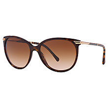 Buy Burberry BE4186 Round Sunglasses, Dark Havana Online at johnlewis.com