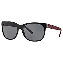 Buy Burberry BE4183 Square Sunglasses, Black Online at johnlewis.com