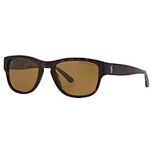 Buy Polo Ralph Lauren PH4086 Square Polarised Sunglasses Online at johnlewis.com