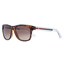 Buy Gucci GG3709/S Polarised Sunglasses, Tortoise Online at johnlewis.com