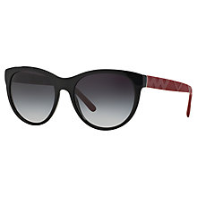 Buy Burberry BE4182 Cat's Eye Sunglasses, Black Online at johnlewis.com