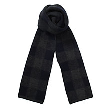 Buy Jigsaw Oversized Check Felted Knit Scarf, Blue Online at johnlewis.com