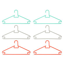 Buy House by John Lewis Coloured Plastic Hangers, Set of 6 Online at johnlewis.com