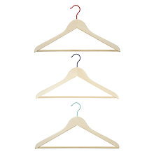 Buy House by John Lewis Wooden Clothes Hangers, Set of 3 Online at johnlewis.com