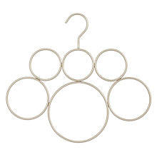 Buy John Lewis 6 Ring Scarf Hanger, Brushed Nickel Online at johnlewis.com