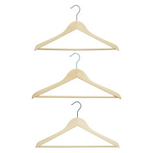 Buy House by John Lewis Scandi Wooden Hangers, Set of 3 Online at johnlewis.com