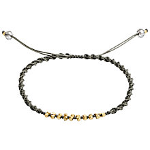 Buy Azuni Beaded Cord Bracelet, Silver Online at johnlewis.com
