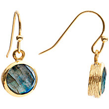 Buy Azuni Circle Drop Earrings, Blue/Gold Online at johnlewis.com