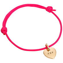 Buy Message by Merci Maman Kiss Kiss Kiss Bracelet, Gold Online at johnlewis.com