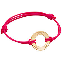Buy Message by Merci Maman Live Love Laugh Bracelet Online at johnlewis.com