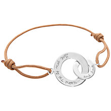 Buy Message by Merci Maman To The Moon & Back Bracelet Online at johnlewis.com