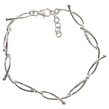 Buy Nina B Sterling Silver Open Twist Bracelet, Silver Online at johnlewis.com