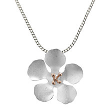 Buy Nina Breddal Satin Finish Flower Pendant, Silver Online at johnlewis.com