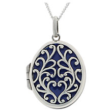 Buy Nina Breddal Small Ornate Locket, Silver Online at johnlewis.com
