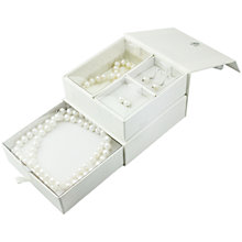 Buy A B Davis Pearl Swarovski Coffrette Style Jewellery Gift Set Online at johnlewis.com
