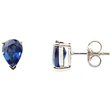Buy A B Davis 9ct White Gold Sapphire Earrings, Blue Online at johnlewis.com