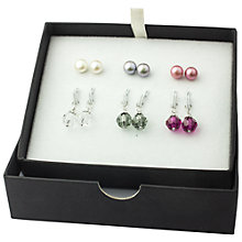 Buy AB Davis Pearl Earrings Box Set Online at johnlewis.com