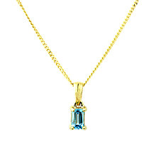 Buy A B Davis 9ct Gold Topaz Pendant Necklace, Blue Online at johnlewis.com